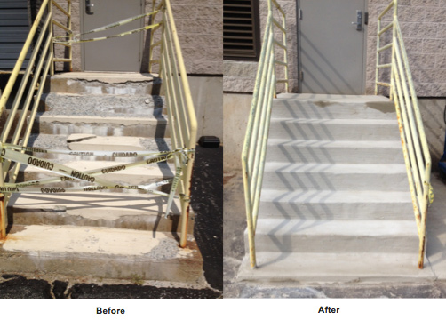 Commercial Concrete Steps Repair Brick Stone Stair