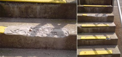 Concrete & Cement Stair Repair, Foundation Crack Repairs ...